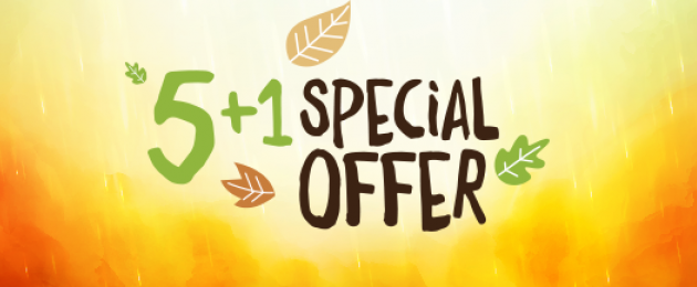 5+1 autumn special offer